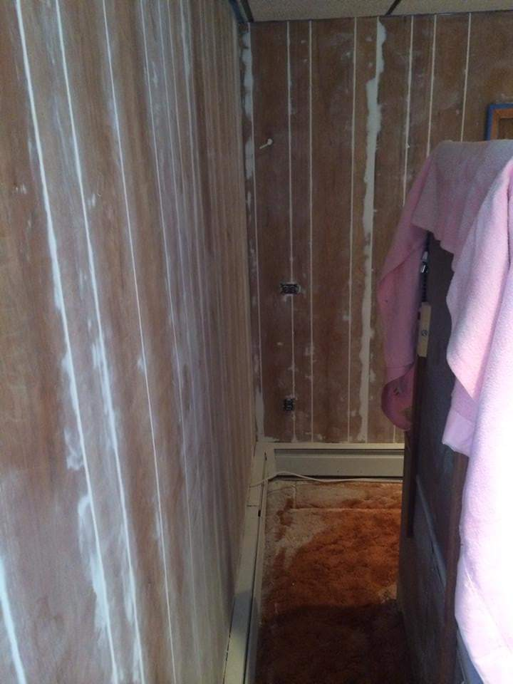 how to make wood paneling look like drywall