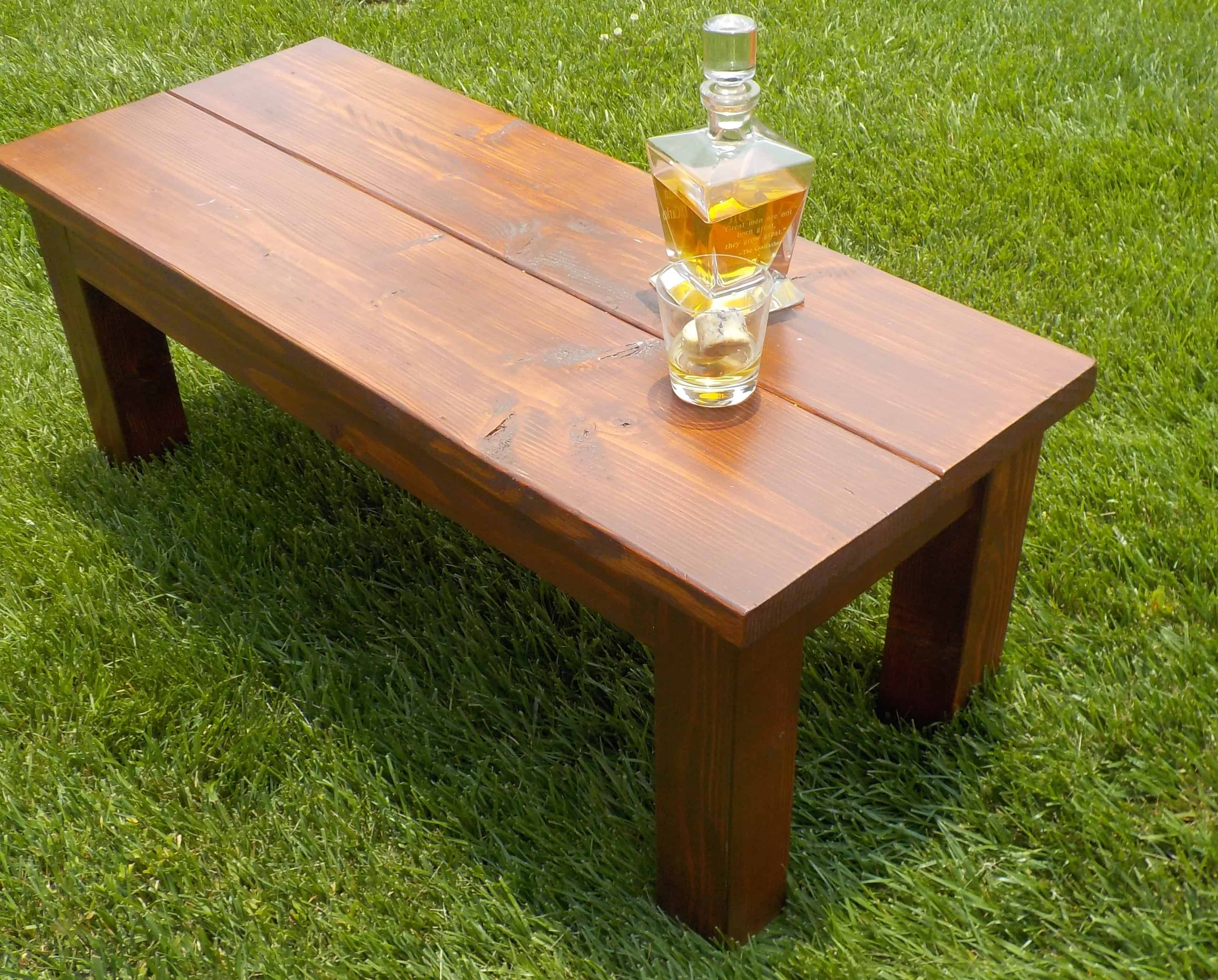 diy coffee table with scrap wood