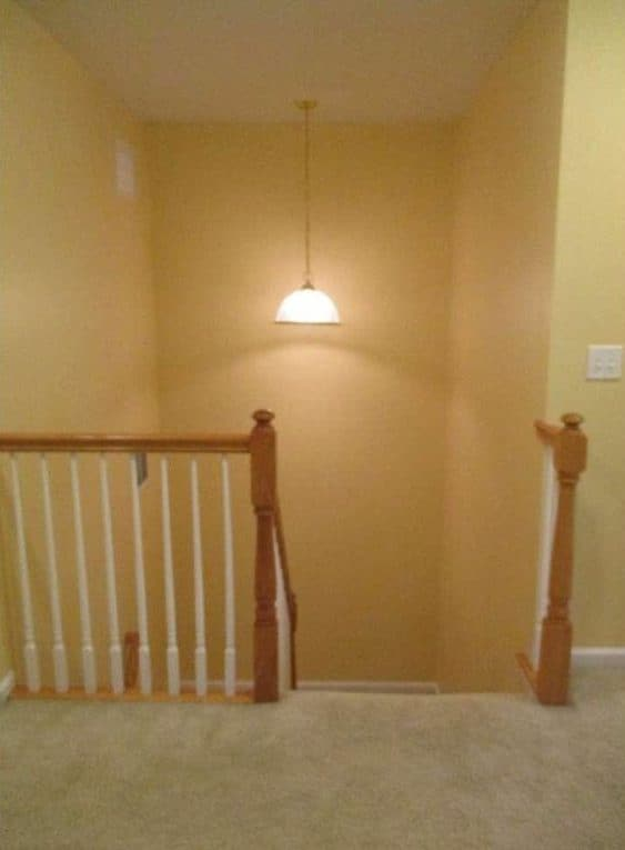 how to update an orange staircase railing