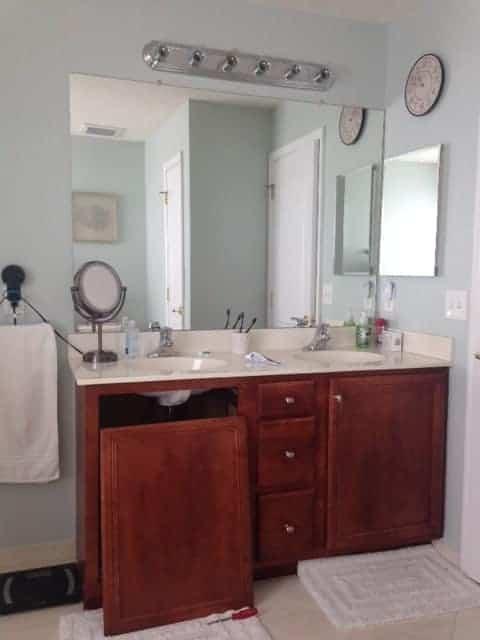 how to make a bathroom mirror frame