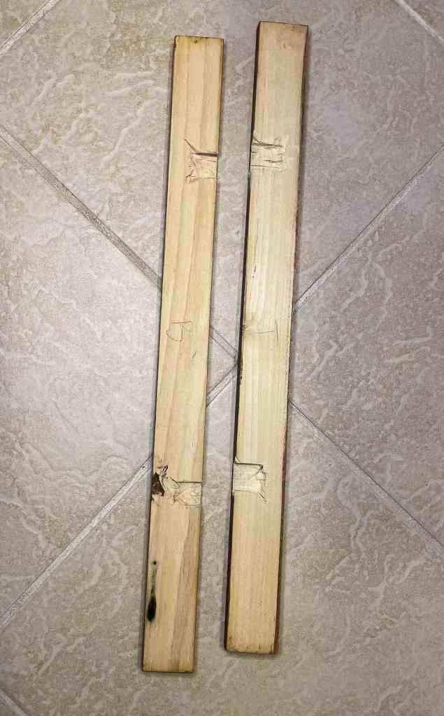 scrap wood mirror frame