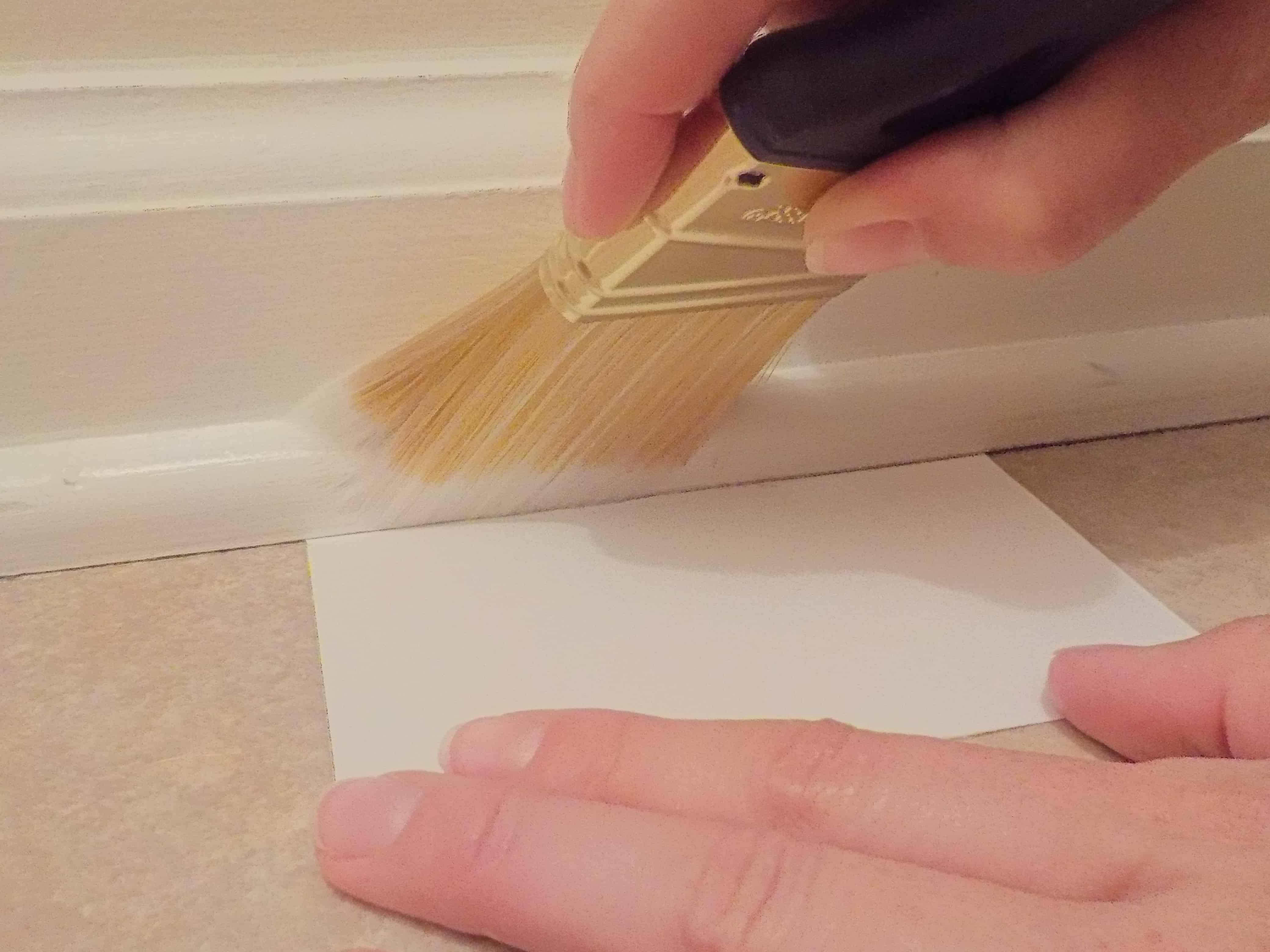 how to paint trim without tape