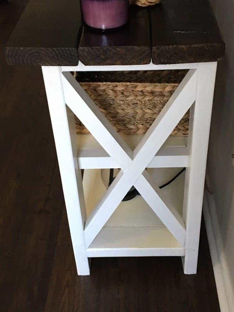 narrow console table