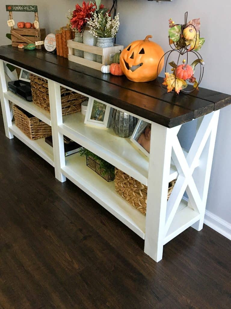 how to make a console table
