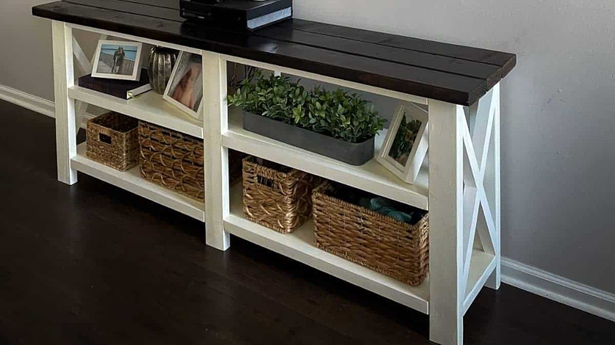 ana white console table