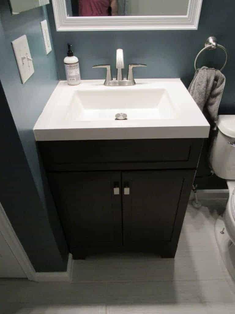 installing a new vanity
