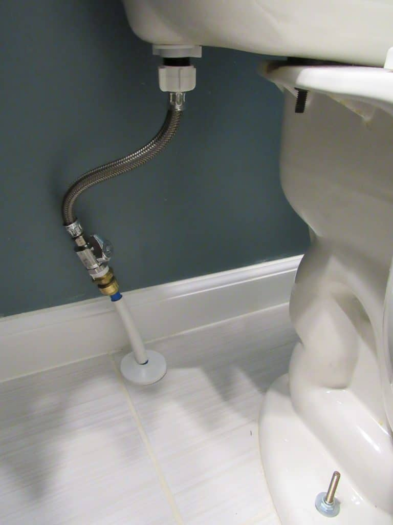 how to install a toilet after tiling