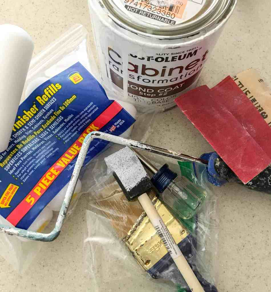 how to fix painted cabinets