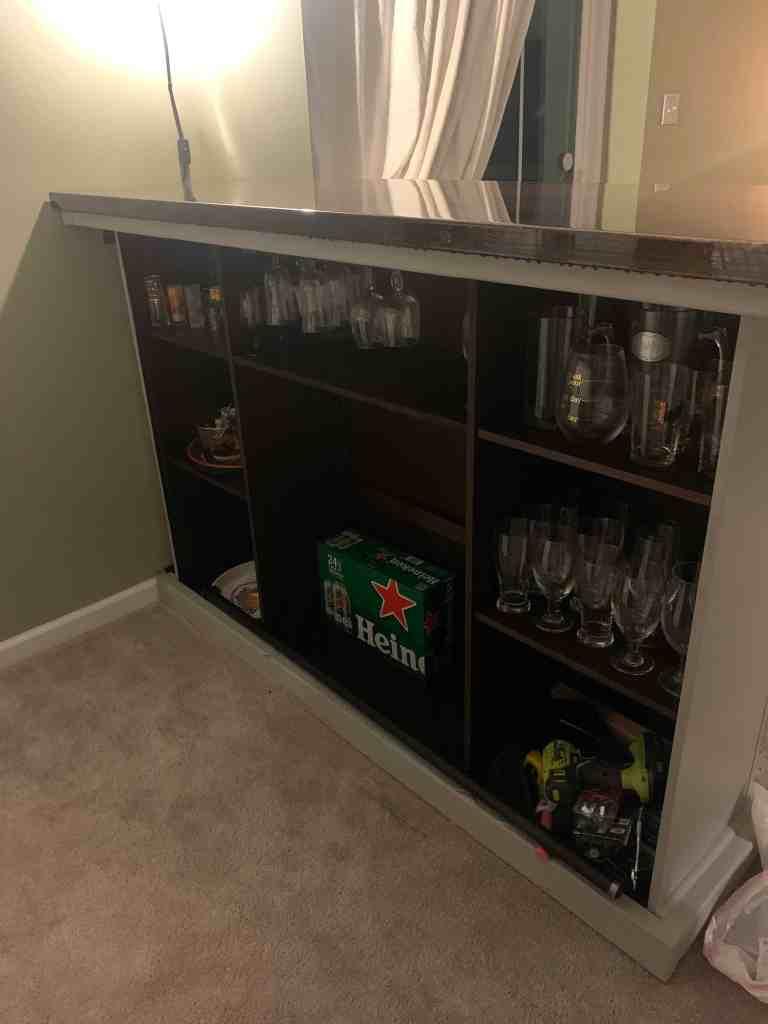 homemade bar