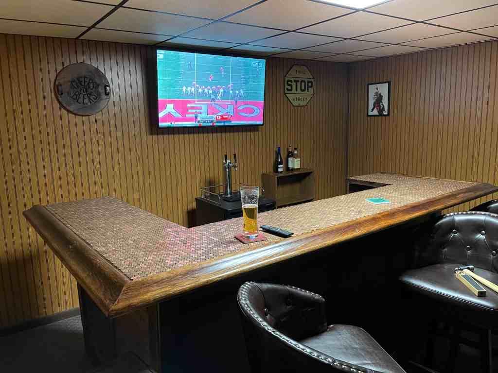 diy basement bar