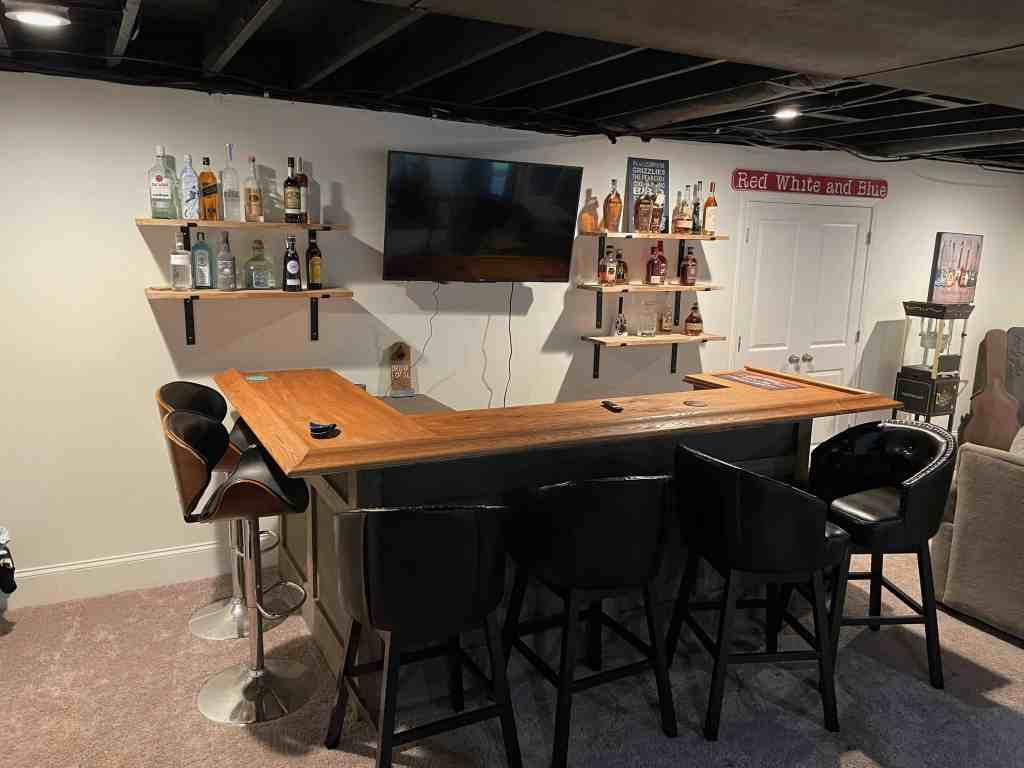 open bar shelves