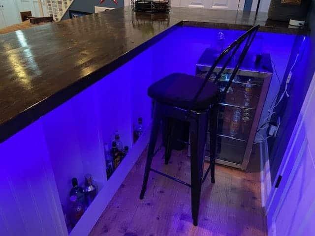 lighted bar shelves